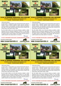 Letáček A6 k vytištění - Informace o petici